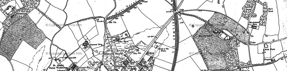 Old map of Bernards Heath in 1896