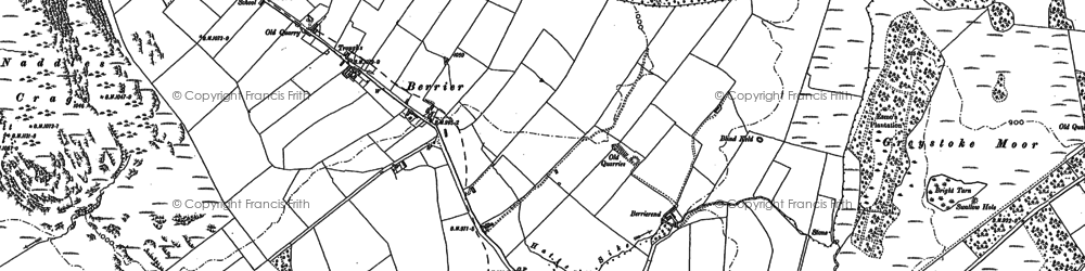 Old map of Whitbarrow Village in 1899