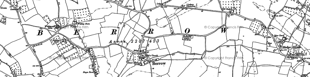 Old map of White End in 1883