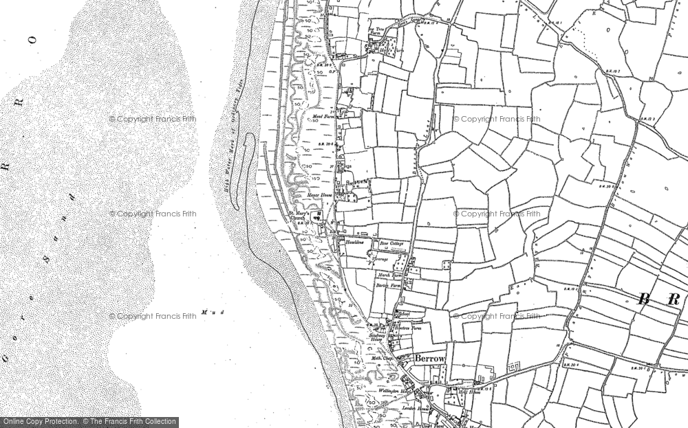 Old Map of Historic Map covering Lark Spit in 1884