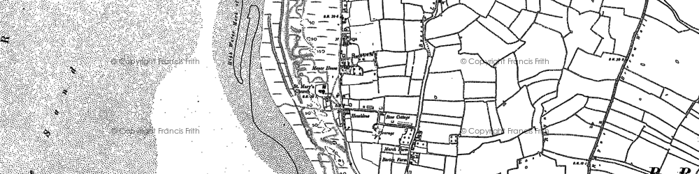 Old map of Applewithy Rhyne in 1884
