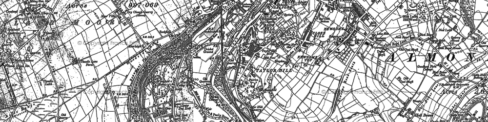 Old map of Berry Brow in 1888