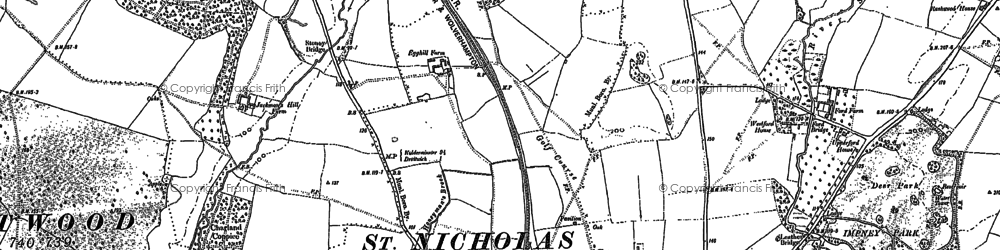 Old map of Westlands in 1883