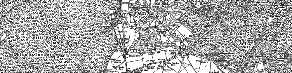 Old map of Berry Hill in 1900