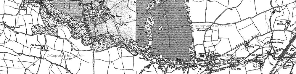 Old map of Bersham in 1898