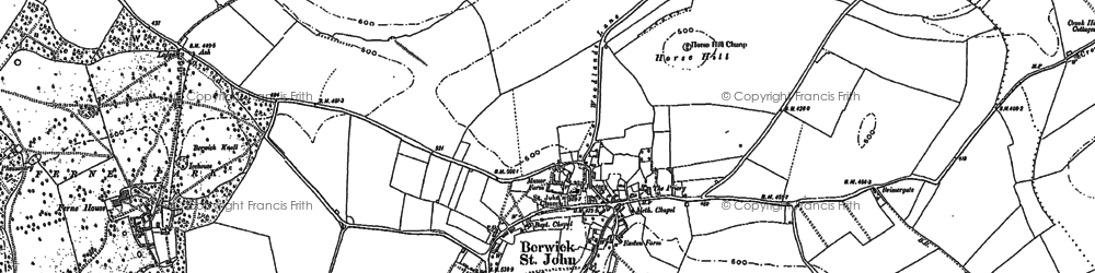 Old map of Winkelbury in 1900