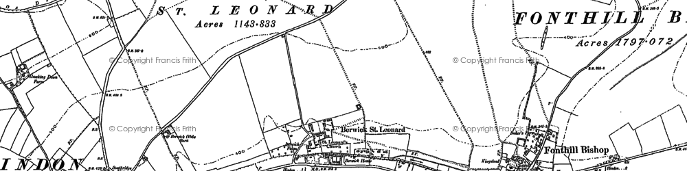 Old map of Greenwich in 1900