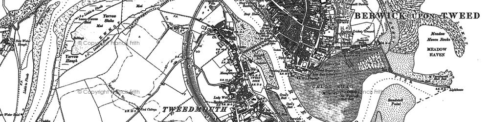 Old map of Yarrow Slake in 1897