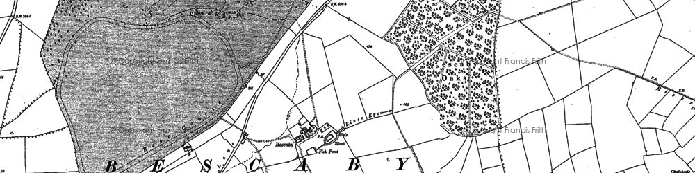 Old map of Lings Covert in 1884