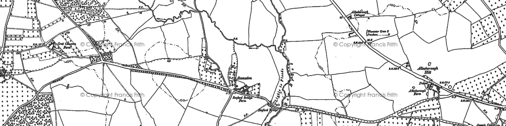 Old map of Allesborough Hill in 1884
