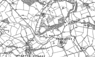 Old Map of Besford Wood, 1880