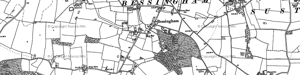 Old map of Aldborough Hall in 1883