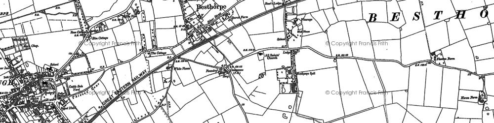 Historic map of Besthorpe