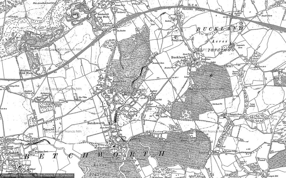 Old Map of Betchworth, 1895 in 1895