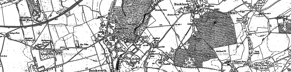 Old map of Wildecroft in 1895
