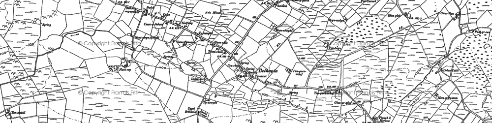 Old map of Bethania in 1887