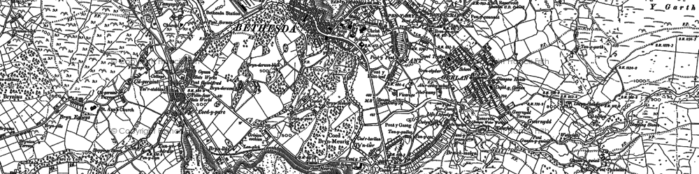 Old map of Bethesda in 1888