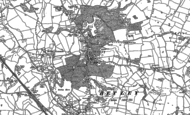 Old Map of Betley, 1908