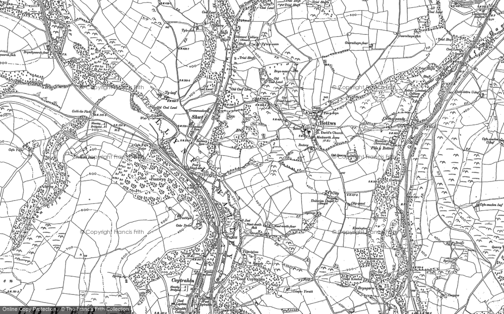 Old Map of Bettws, 1897 in 1897