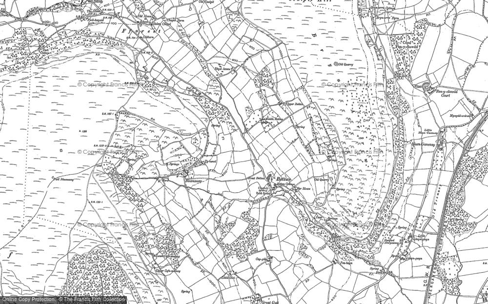 Map of Bettws, 1899 - 1903