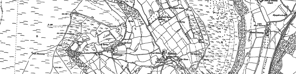 Old map of Bettws in 1899