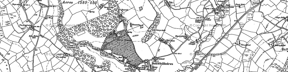Old map of Betws Bledrws in 1904