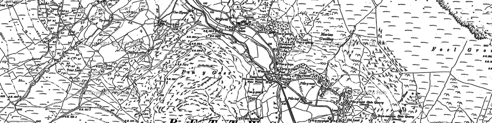 Old map of Betws Garmon in 1887