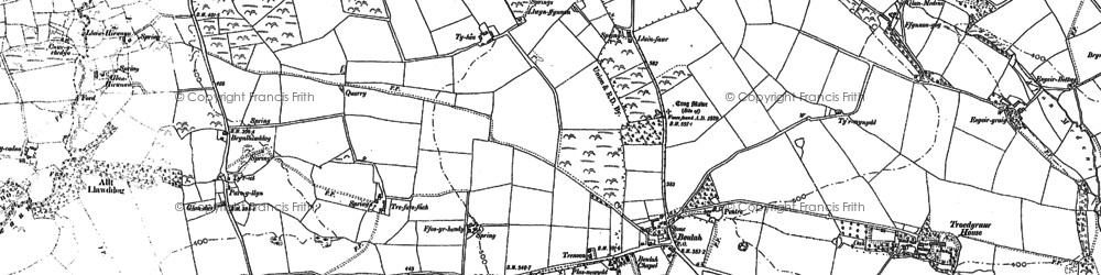 Old map of Beulah in 1887