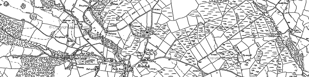Old map of Aberannell in 1887