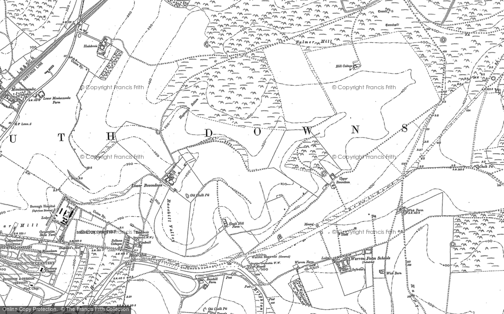 Old Map of Bevendean, 1909 in 1909