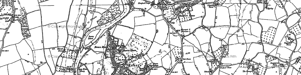 Old map of Barbourne in 1884