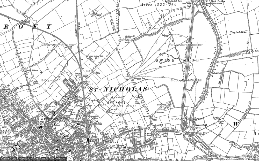 Old Map of Beverley, 1853 - 1891 in 1853