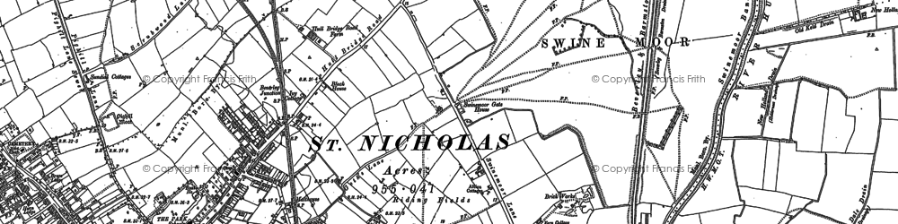 Old map of Beverley in 1853