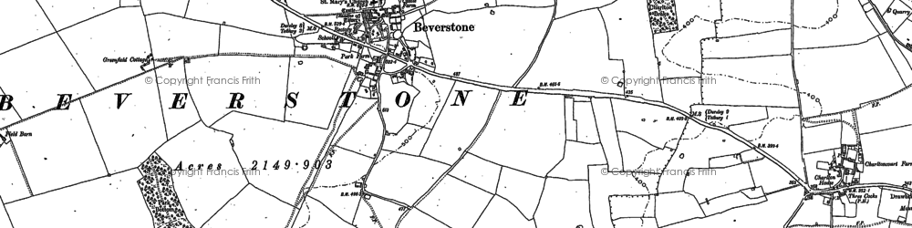 Old map of Beverston in 1881