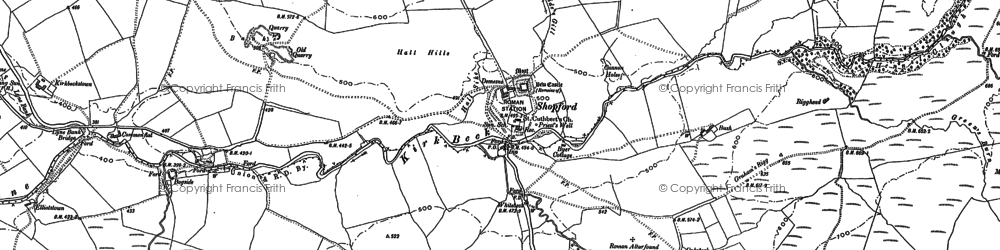 Old map of Antonstown Burn in 1899