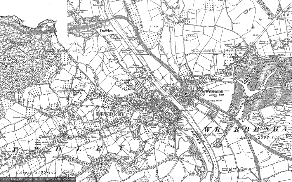Old Map of Historic Map covering Wribbenhall in 1883