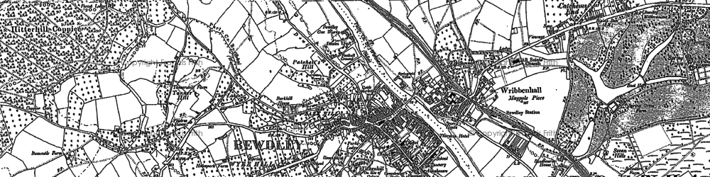 Old map of Bewdley in 1883