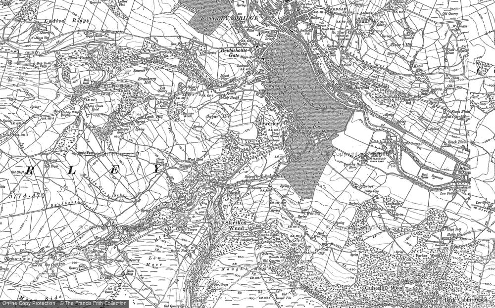 Old Map of Historic Map covering Toft Gate in 1907