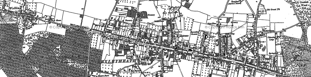 Old map of Bexleyheath in 1895