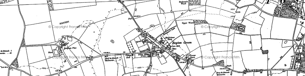 Old map of Thurston Planche in 1883