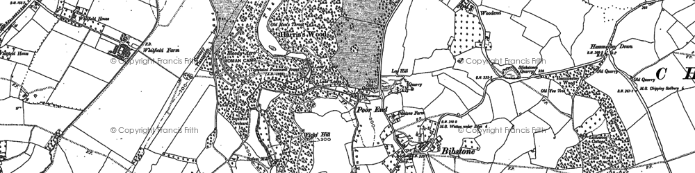 Old map of Bibstone in 1880