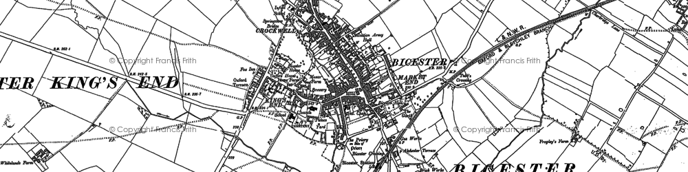 Old map of Bicester in 1898