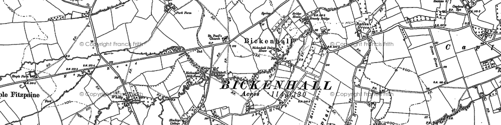 Old map of Batten's Green in 1886