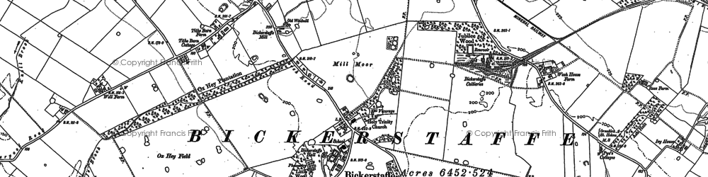 Old map of Barrow Nook in 1891