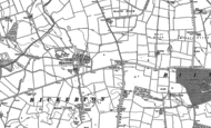 Old Map of Bickerton, 1892