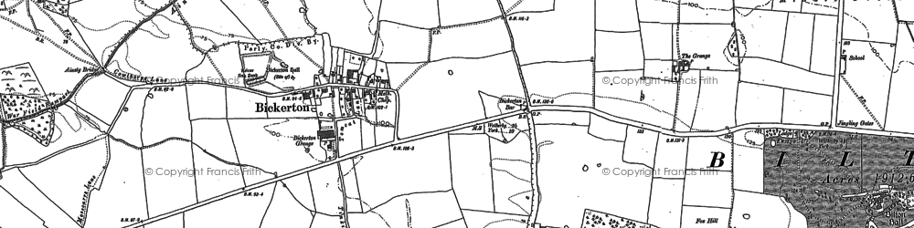 Old map of Wharton Lodge in 1892