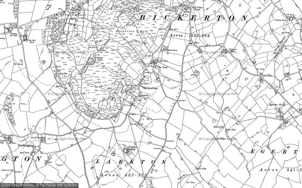 Old Map of Historic Map covering Ashtons-cross in 1897