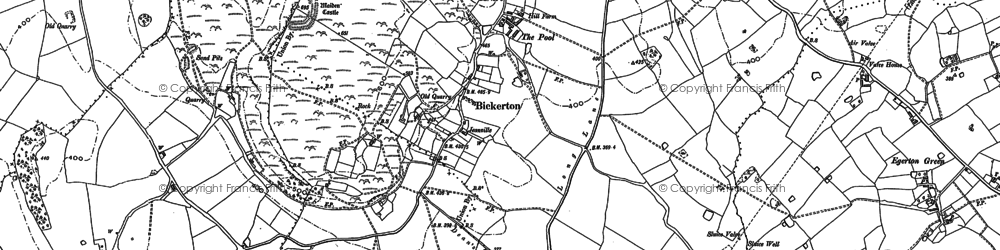Old map of Ashtons-cross in 1897