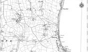 Old Map of Bickerton, 1905