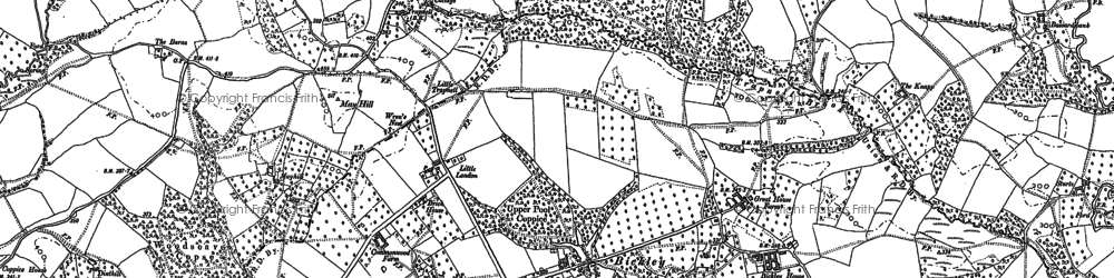 Old map of Knighton on Teme in 1883